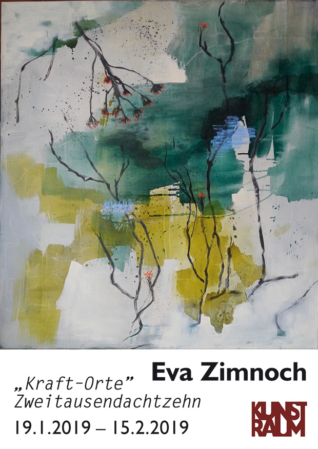 """Ausstellungseröffnung - Eva Zimnoch - """"Kraft-Orte"""" Zweitausendachtzehn"""