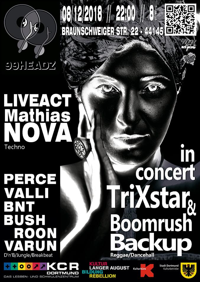 'TriXstar & Boomrush Backup' und 'Mathias Nova' zu Gast bei den 99headz