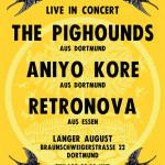 Plakat: THE PIGHOUNDS, ANIYO KORE, RETRONOVA