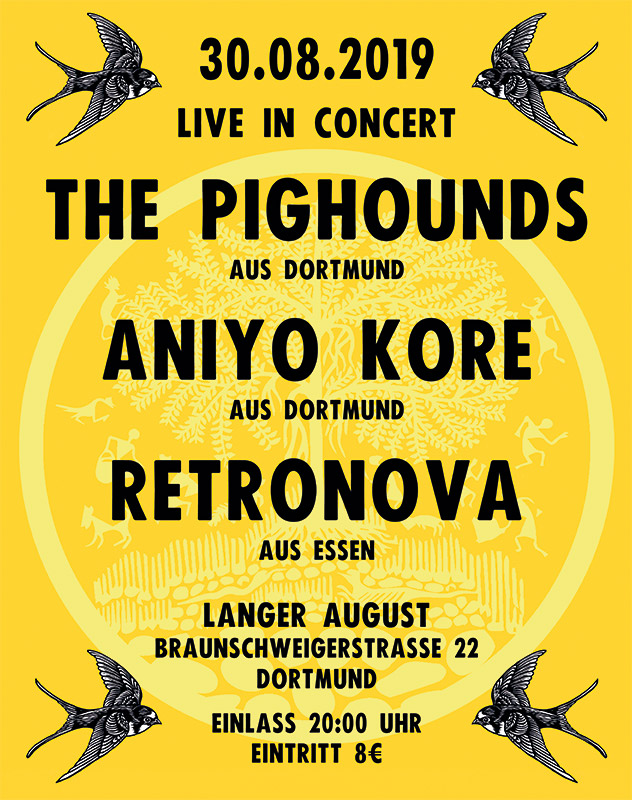 Plakat: THE PIGHOUNDS, ANIYO KORE, RETRONOVA