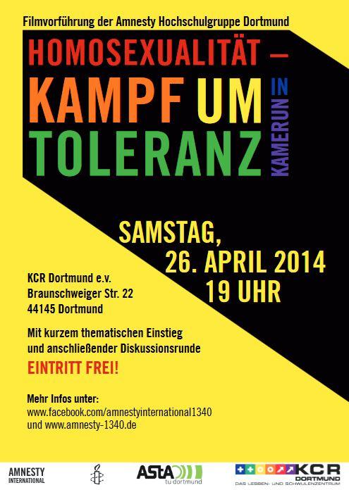Born This Way - Filmvorführung der Amnesty Hochschulgruppe Dortmund - Homosexualität - Kampf um Toleranz in Kamerun